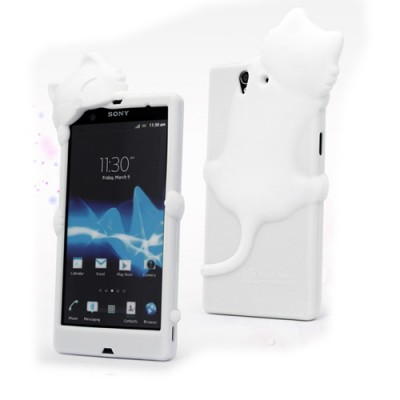 kiki-cat-silicone-case-for-sony-xperia-z-l36h-smartphone-3d-white-cover